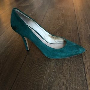 Forest Green Vince Camuto Suede Pumps